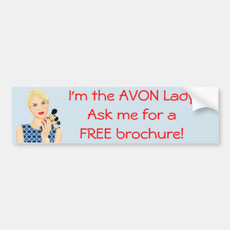 The Avon Lady, Beauty Model Bumper Sticker