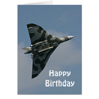 The Avro Vulcan Happy Birthday Card