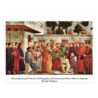 The Awakening Of The Son Of Theophilus Of Antioch Postcard