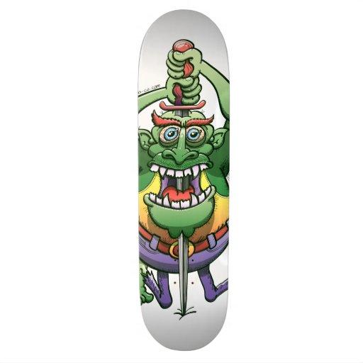 The Awkwardness of the Sword Swallower Custom Skate Board
