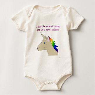 The axiom of choice makes unicorns! baby bodysuit