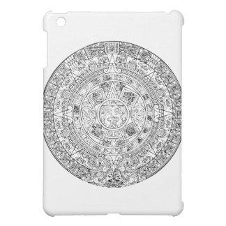 The Aztec Sun Calendar Circular Stone Design iPad Mini Cover