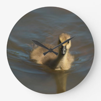 The Baby Canadian Goose Large Clock