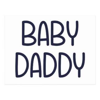 The Baby Mama Baby Daddy (i.e. father) Postcard