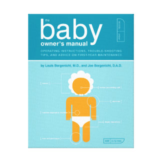 The Baby Owner's Manual Gallery Wrapped Canvas