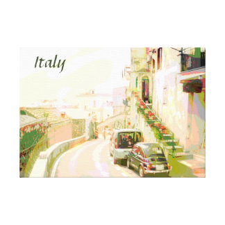 The Back Streets of Italy Travel Poster Style Canvas Print
