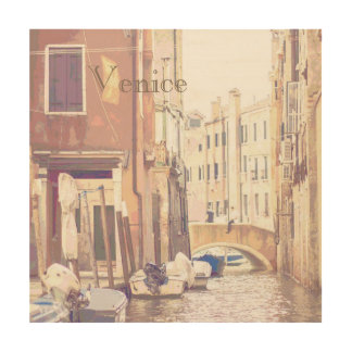 The Back Streets of Venice Travel Poster Style
