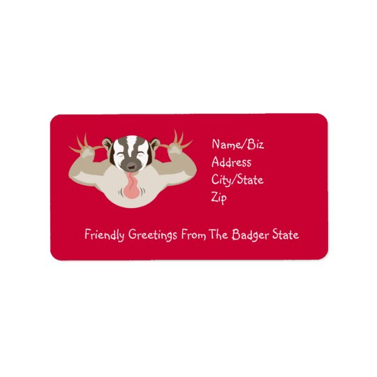 The Badgering Badger_Friendly Greetings Address Label