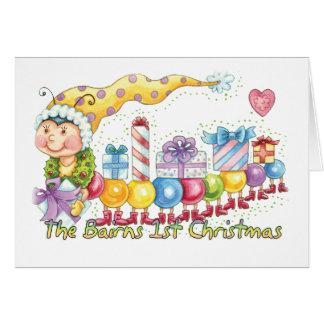 The Bairns 1st Christmas - Cute Bairns Baby Card