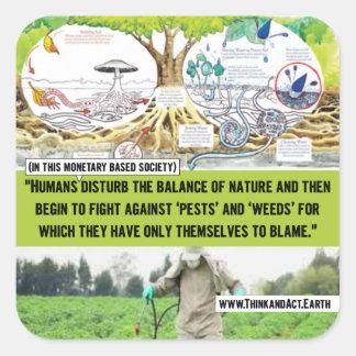 The Balance of Nature Square Sticker