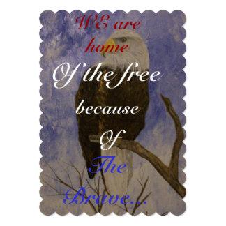 The Bald Eagle 13 Cm X 18 Cm Invitation Card