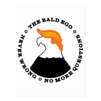 The Bald Ego Is Never Wrong (light) Postcard