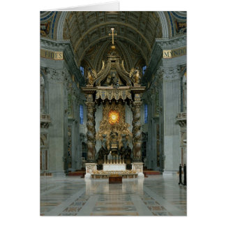 The Baldacchino, the high altar and the chair Card