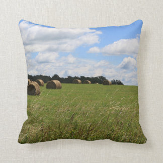 The Bales of Summer 2 Throw Pillow