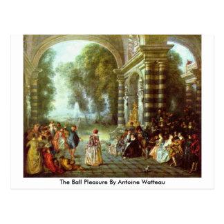 The Ball Pleasure By Antoine Watteau Postcard