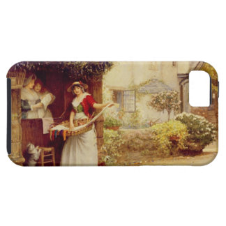 The Ballad Seller, 1902 (oil on board) iPhone 5 Case