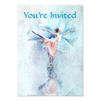 The Ballerina party invitation
