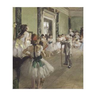 The Ballet Class by Edgar Degas Canvas Print