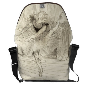 The Ballet Dancer, Toulouse-Lautrec Messenger Bags