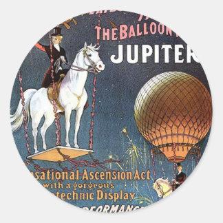 The Balloon Horse Jupiter Vintage Theater Stickers