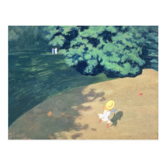 The Balloon or Corner of a Park with a Child Postcard