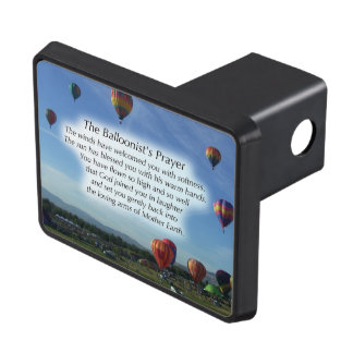 The Balloonist's Prayer Trailer Hitch Trailer Hitch Covers