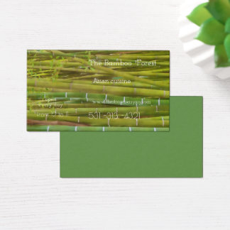 The bamboo forest -  Asian cuisine Business Card