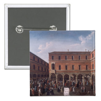 The Bancho del Giro in the Rialto, Venice 15 Cm Square Badge