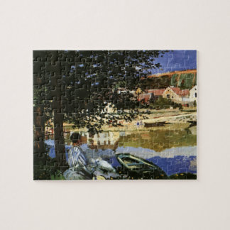 The Bank of the Seine, Bennecourt by Claude Monet Jigsaw Puzzle