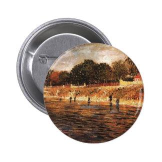 The Banks of the Seine Vincent van Gogh Button