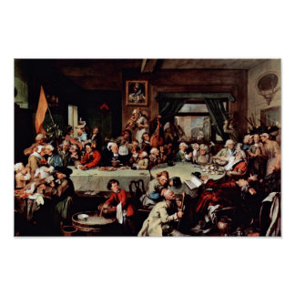 """The Banquet"""" By Hogarth William (Best Quality) Print"""
