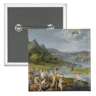 The Baptism of Christ 2 15 Cm Square Badge