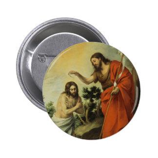 The Baptism of Christ by Bartolome Esteban Murillo 6 Cm Round Badge