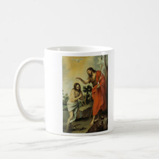 The Baptism of Christ by Bartolome Esteban Murillo Basic White Mug