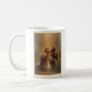 The Baptism of Christ by James Fuller Queen 1873 Basic White Mug