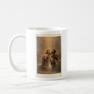 The Baptism of Christ by James Fuller Queen 1873 Classic White Coffee Mug