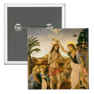The Baptism of Christ by John the Baptist 15 Cm Square Badge