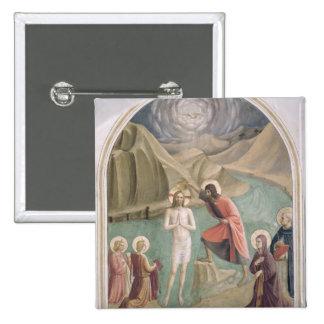 The Baptism of Christ, c.1438-45 (fresco) 15 Cm Square Badge