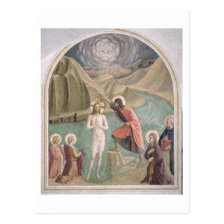 The Baptism of Christ, c.1438-45 (fresco) Postcard