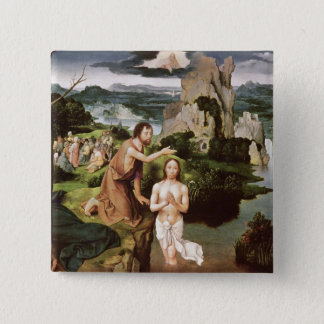 The Baptism of Christ, c.1515 15 Cm Square Badge