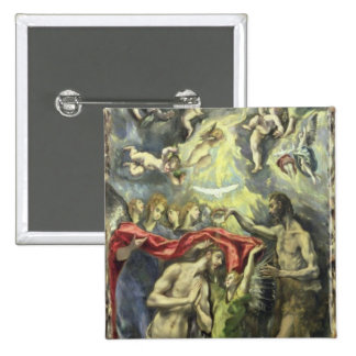 The Baptism of Christ, c.1597 (oil on canvas) 15 Cm Square Badge