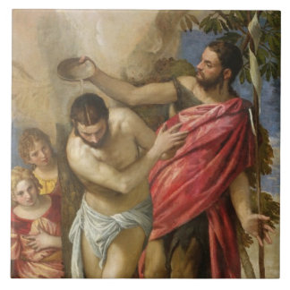 The Baptism of Christ Large Square Tile