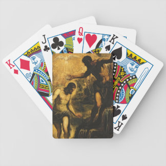 The Baptism of Christ (oil on canvas) Bicycle Playing Cards
