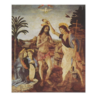 The Baptism of Christ (Verrocchio) Poster