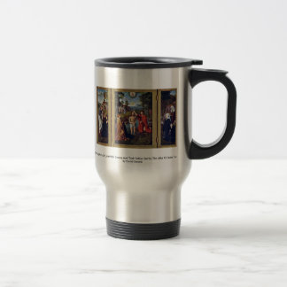 The Baptism Of Christ With Donors And Their Patron Mug