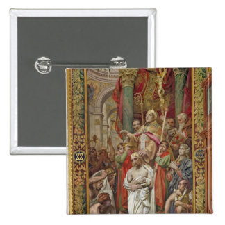 The Baptism of Clovis I 15 Cm Square Badge