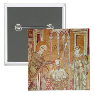 The Baptism of St. Paul By Ananias 15 Cm Square Badge