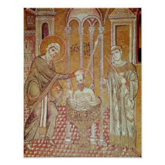 The Baptism of St. Paul By Ananias Poster