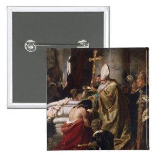 The Baptism of Vajk 15 Cm Square Badge