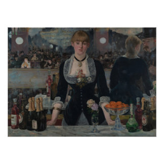 The Bar at the Folies Bergere by Edouard Manet Poster